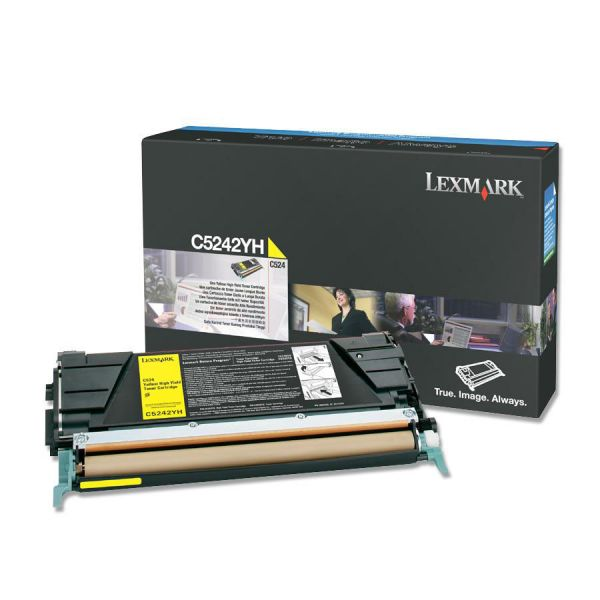 Lexmark C5242YH Yellow High Yield Toner Cartridge