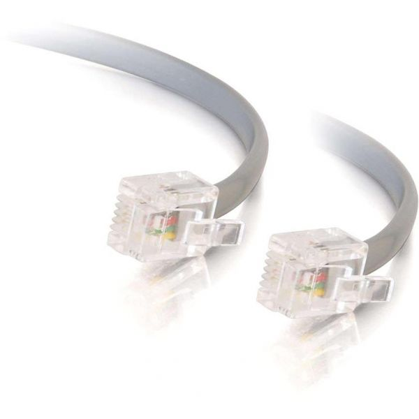 C2G 7ft RJ11 6P4C Straight Modular Cable