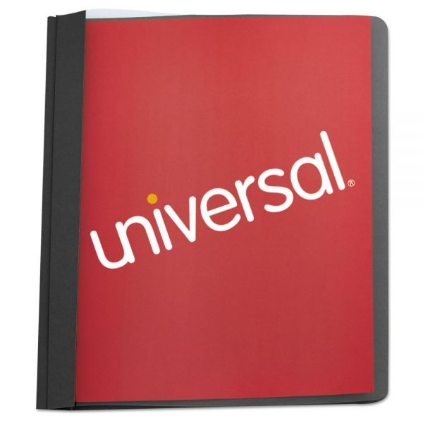 Universal Clear Front Report Cover, Tang Fasteners, Letter Size, Black, 25/Box