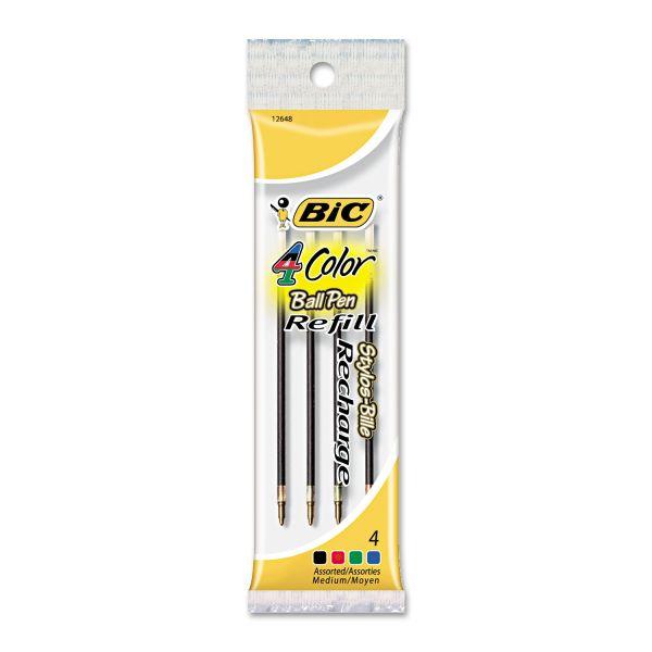 BIC 4-Color Retractable Pen Refills