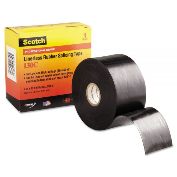 "3M Scotch 130C Linerless Splicing Tape, 2"" x 30ft"