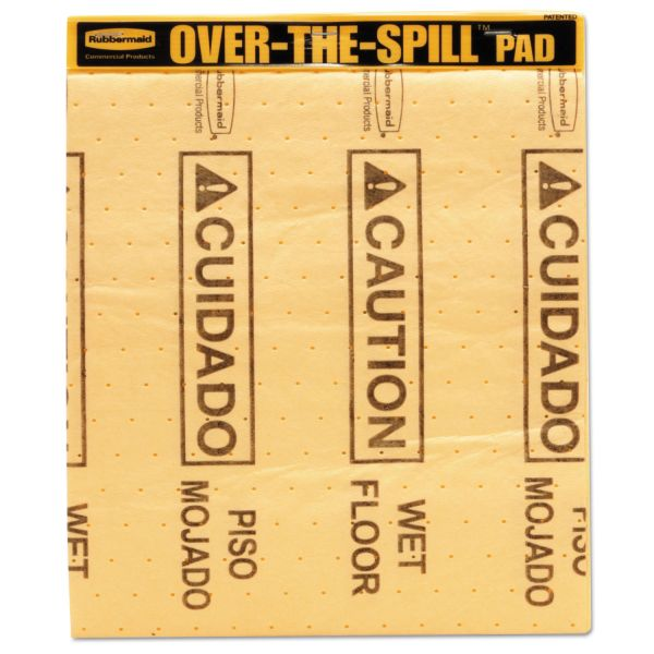 Rubbermaid Over-The-Spill Caution Pad Tablet