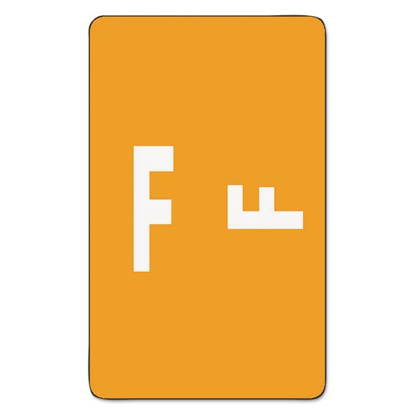 Smead Alpha-Z Color-Coded Second Letter Labels, Letter F, Orange, 100/Pack
