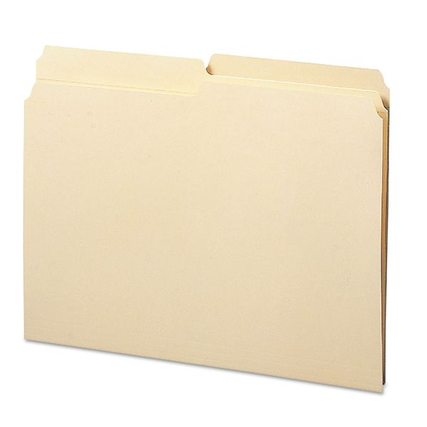 Smead Folders, 1/2 Cut Assorted, Reinforced Top Tab, Letter, Manila, 100/Box