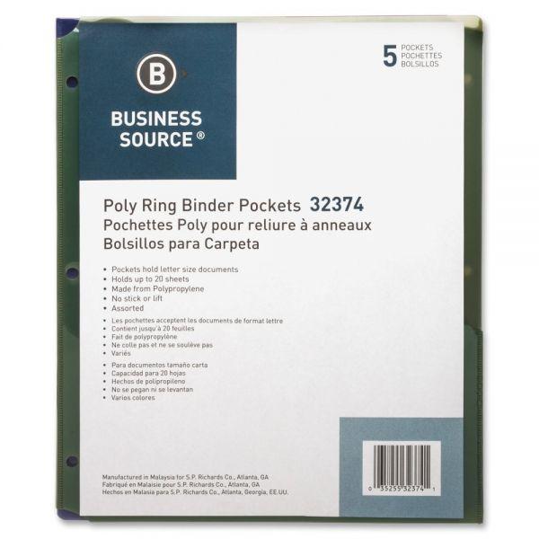 Business Source Double-Pocket Binder Pockets