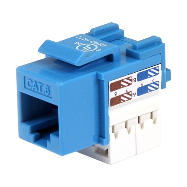 StarTech.com Cat 6 RJ45 Keystone Jack Blue - 110 Type