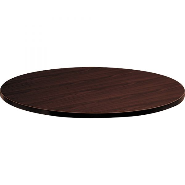 "HON 10500 Series Round Table Top, 42"" Diameter, Mahogany"