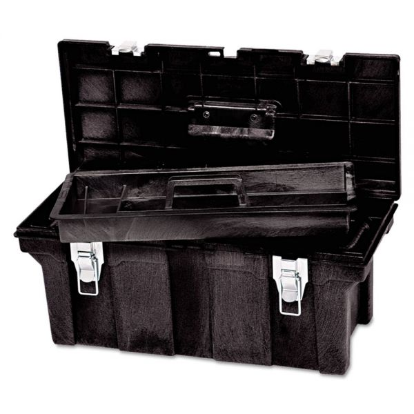 Rubbermaid Commercial Tool Box, 26in, Black