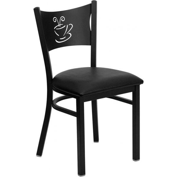 Flash Furniture Coffee Back Metal Restaurant Chair