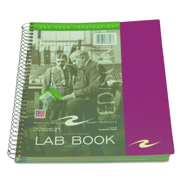 Roaring Spring Pockets Plus Wirebound Lab Book
