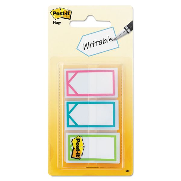 "Post-it Flags Arrow 1"" Page Flags, Three Assorted Bright Colors, 60/Pack"