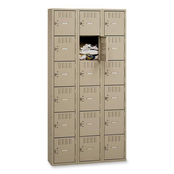 Tennsco 6-Tier No Legs Steel Box Lockers