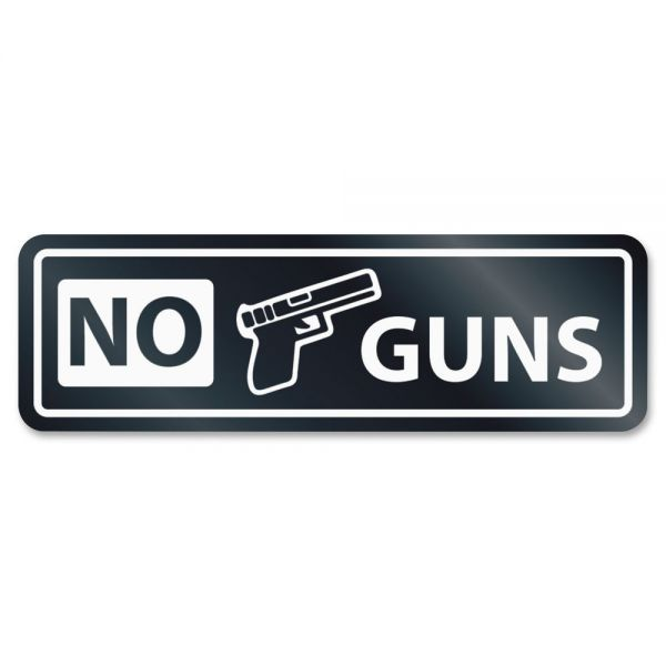 HeadLine No Guns Window Sign