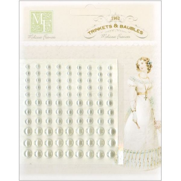 "Self-Adhesive Pearl Embellishments 3.75""X3.5"" Sheet"