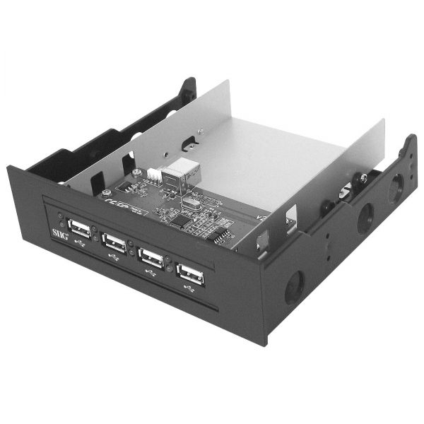 SIIG Hi-Speed USB 4-Port Bay Hub (Black)