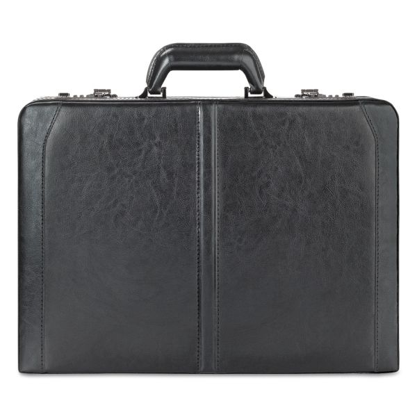 "Solo Classic Leather Attaché, 16"", 18"" x 4 7/50"" x 13"", Black"