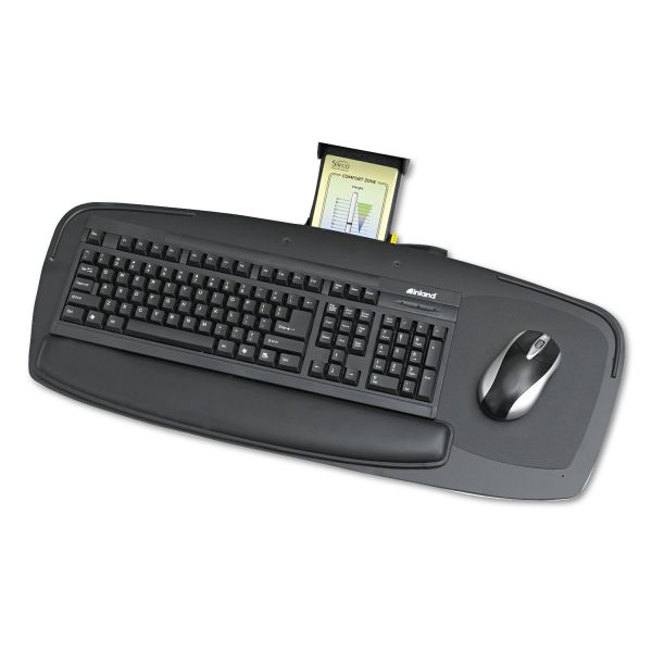 "Safco Keyboard/Mouse Platform with Control Zone, 27"", Black"
