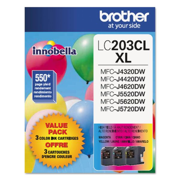 Brother Innobella High-Yield LC203CL XL Ink Cartridges