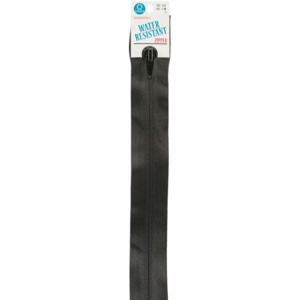 Water-Resistant Separating Zipper 26""
