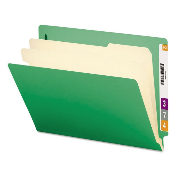 Smead End Tab Green Classification File Folders
