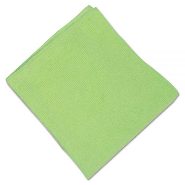 UNISAN Microfiber Cleaning Cloths,16 x 16, Green, 12/Carton