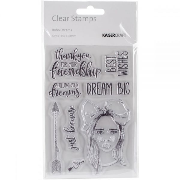 "Boho Dreams Clear Stamps 6""X4"""