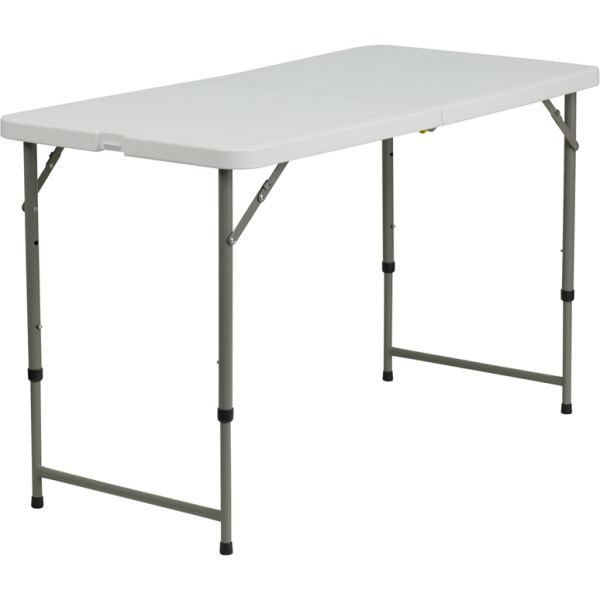Flash Furniture Height Adjustable Indoor/Outdoor Folding Table