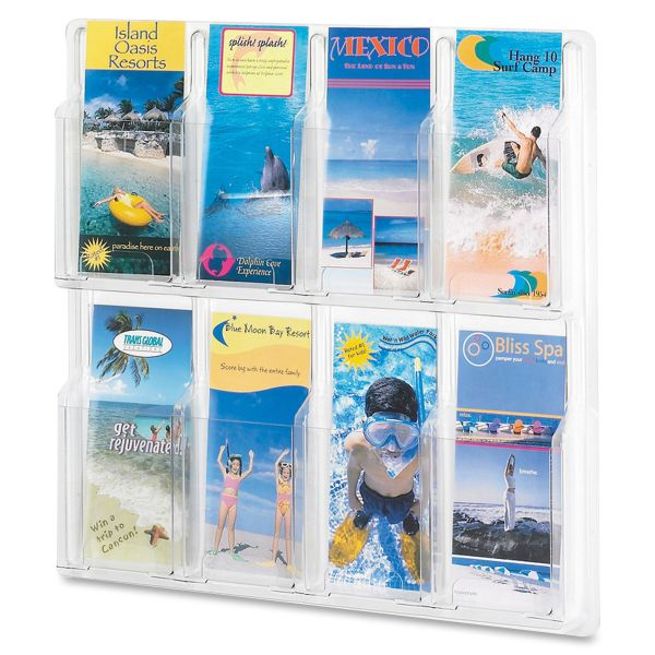Safco Reveal 8 Pamphlet Display Rack