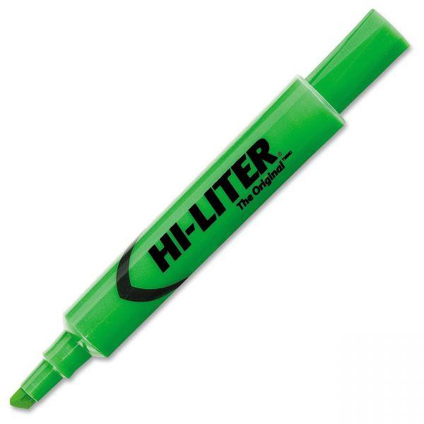 Avery HI-LITER Desk-Style Highlighter, Chisel Tip, Fluorescent Green Ink, Dozen