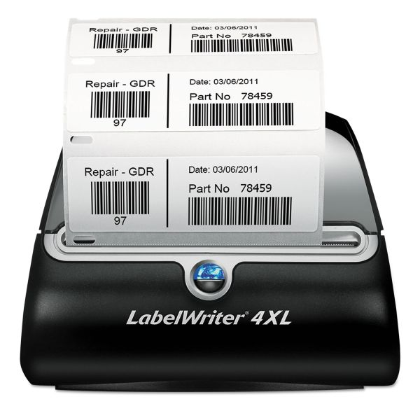 "DYMO LabelWriter 4XL, 4 4/25"" Labels, 53 Labels/Minute, 7 3/10w x 7 4/5d x 5 1/2h"