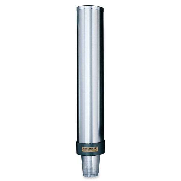 San Jamar Stainless Steel Gravity-Fed Cup Dispenser
