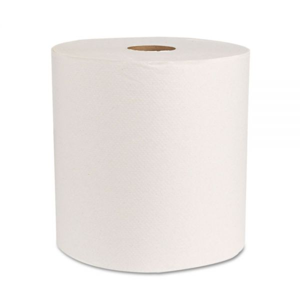 "Boardwalk Boardwalk Green Universal Roll Towels, Natural White, 8""x800ft, 6 Rolls/Carton"