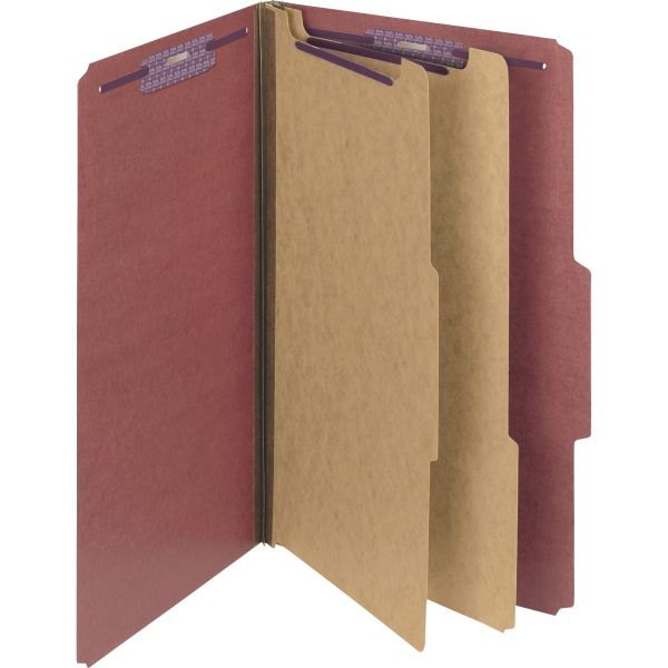 Smead SafeSHIELD 2-Divider Pressboard Classification Folders