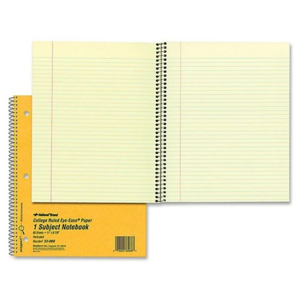 Rediform 1-Subject Notebook