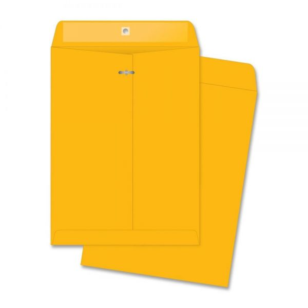 "Business Source Rugged Gummed 9 1/2"" x 12 1/2"" Clasp Envelopes"