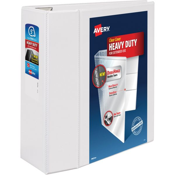 "Avery Heavy-Duty Reference 5"" 3-Ring View Binder"