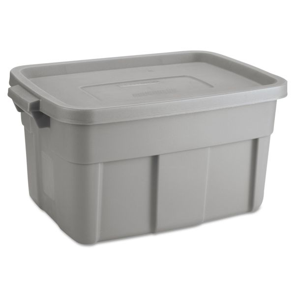 Rubbermaid Roughneck Storage Box, 14 gal, Steel Gray