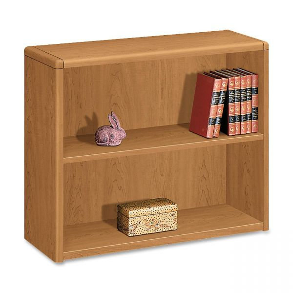 HON 10700 Series 2-Shelf Laminate Bookcase