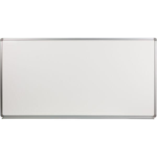 "Flash Furniture 72"" x 36"" Magnetic Porcelain Dry Erase Whiteboard"