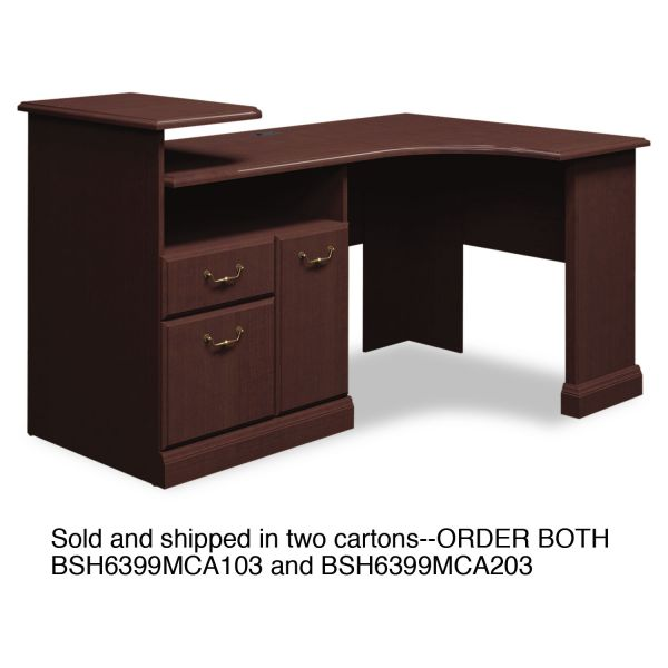 bbf Syndicate Corner Office Desk by Bush Furniture *Box 2 of 2