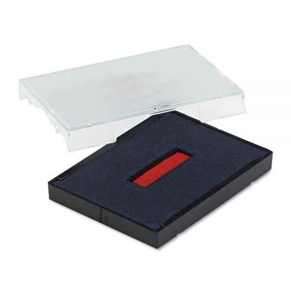 Identity Group Trodat T4727 Dater Replacement Pad, 1 5/8 x 2 1/2, Blue/Red