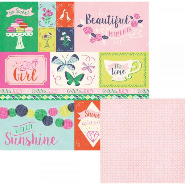 "Flower Girl Double-Sided Cardstock 12""X12"""