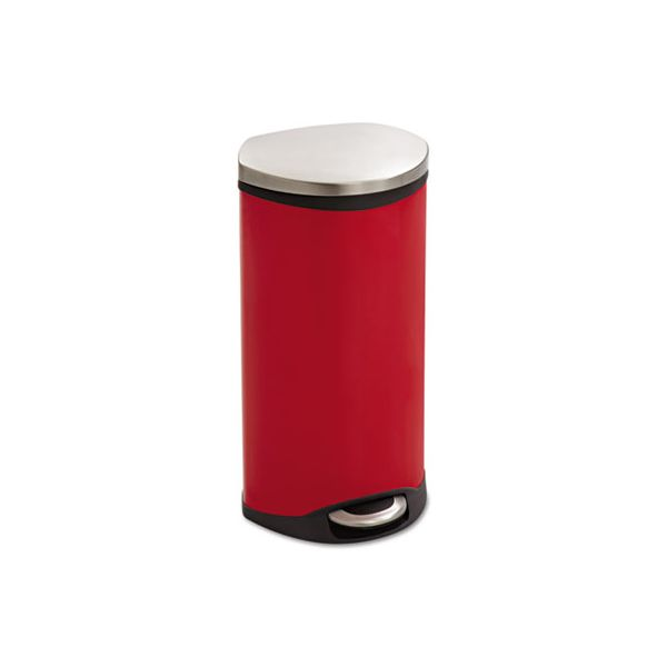 Safco Step-On 7.5 Gallon Trash Can With Lid