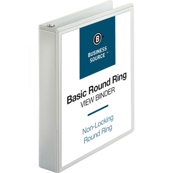 """Business Source 1 1/2"""" 3-Ring View Binder"""