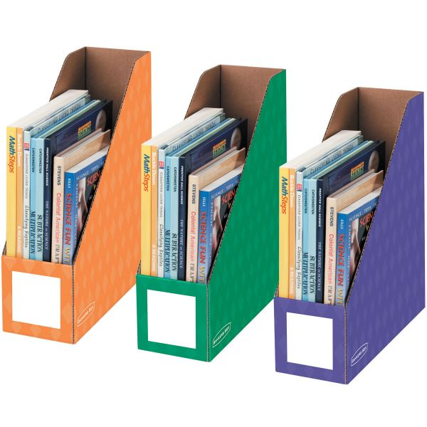 """Bankers Box 4"""" Magazine File Holders - Secondary, 3pk"""