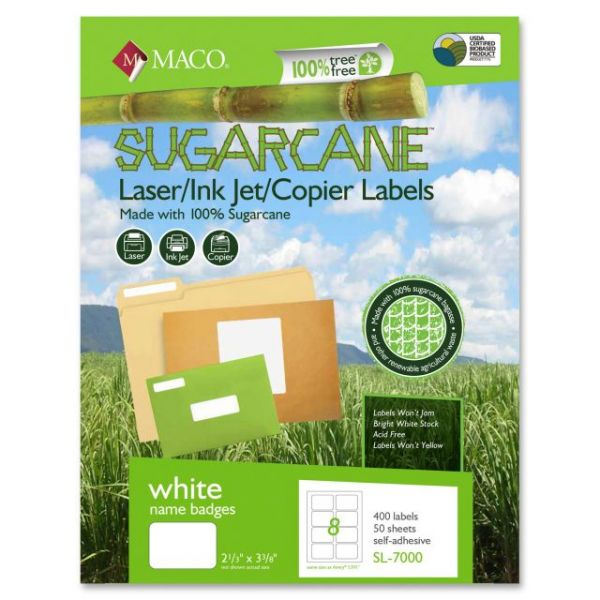 Maco Sugarcane Name Badge Labels