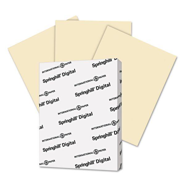 Springhill Digital Vellum Bristol Color Cover, 67 lb, 8 1/2 x 11, Ivory, 250 Sheets/Pack