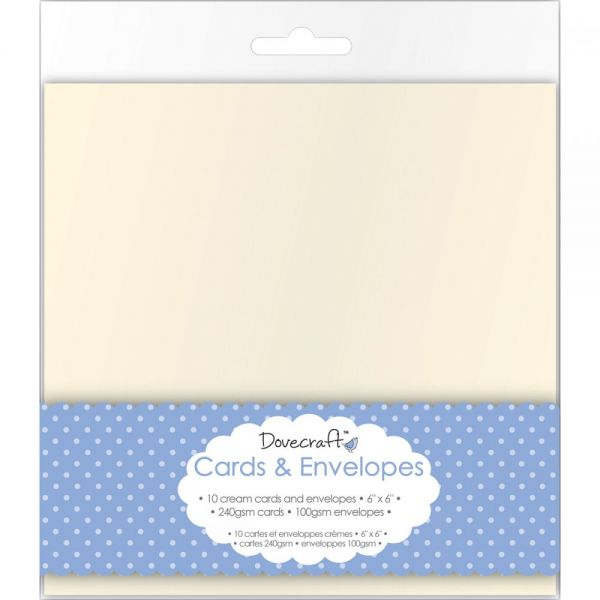 "Dovecraft Cards W/Envelopes 6""X6"" 10/Pkg"