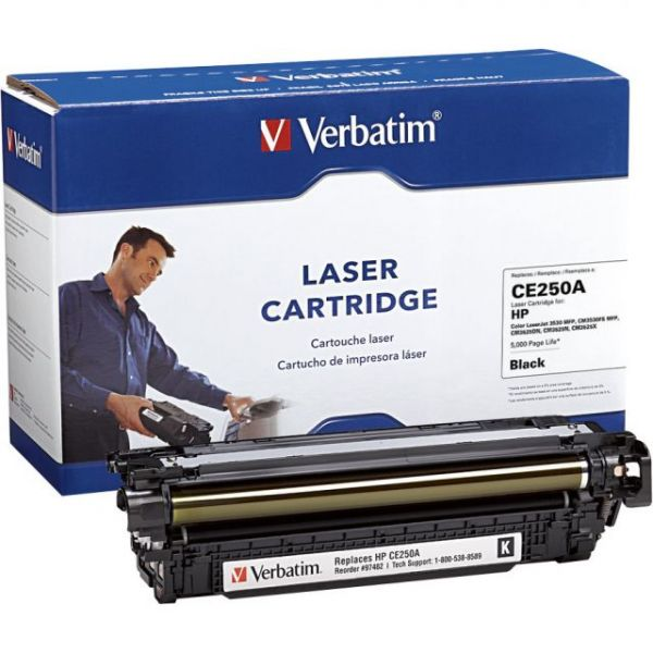 Verbatim Remanufactured HP CE250A Black Toner Cartridge