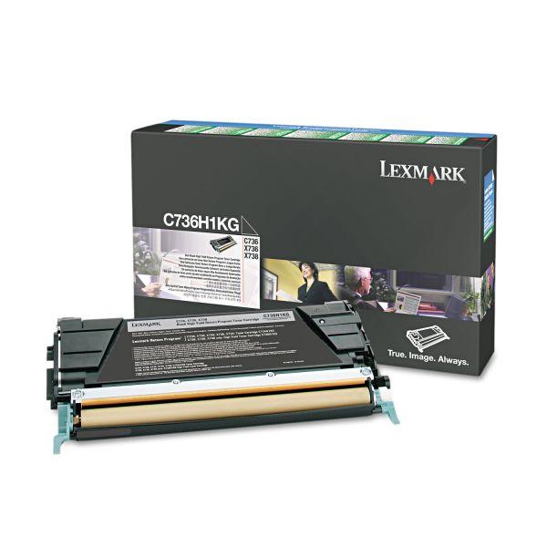 Lexmark C736H1KG Black High Yield Return Program Toner Cartridge